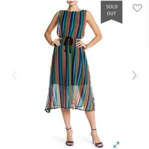 New w/out Tags. Eva Franco Midi knit & silk dress